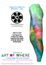 Falling Petal Abstract - Blue-Green- Pink A Leggings by Heather J Kirk - SIDE-H2O